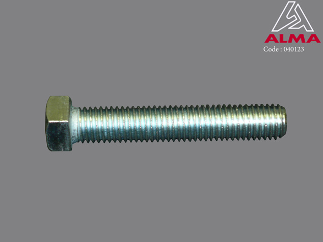 Zinc plated TH screw 14/80. Crédits : ©ALMA