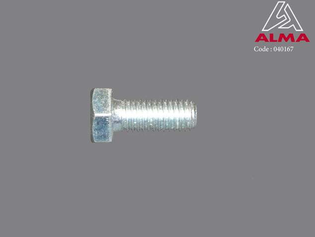 Zinc plated TH screw 8/20. Crédits : ©ALMA