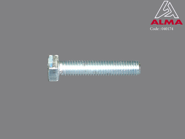 Zinc plated TH screw 8/40. Crédits : ©ALMA