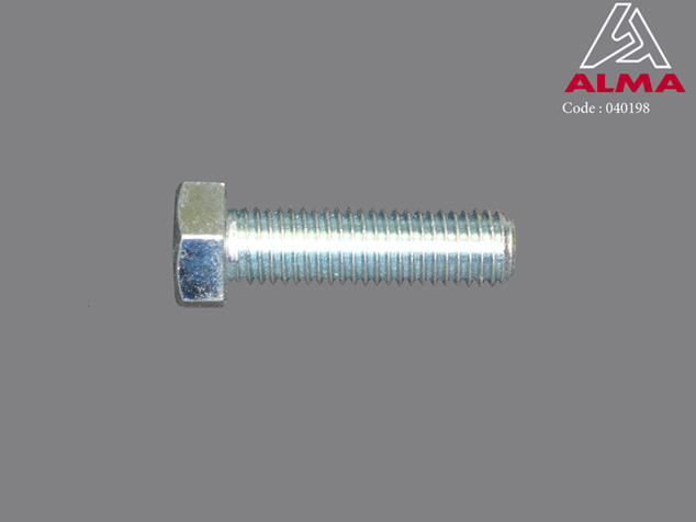 Zinc plated TH screw 14/50. Crédits : ©ALMA